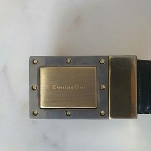 CHRISTIAN DIOR - vintage logo leather belt